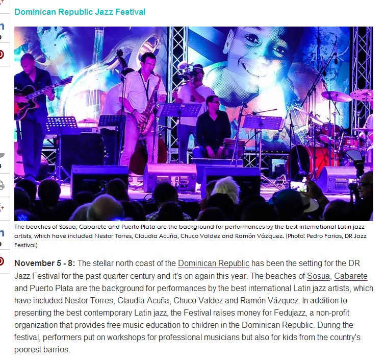The best parties in the Caribbean in 2015 - DR Jazz Festival