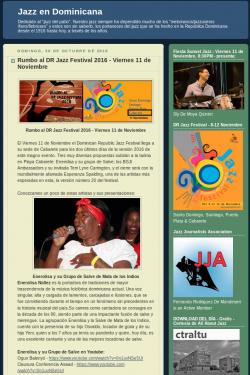 Rumbo al DR Jazz Festival 2016 - Viernes 11 de Noviembre