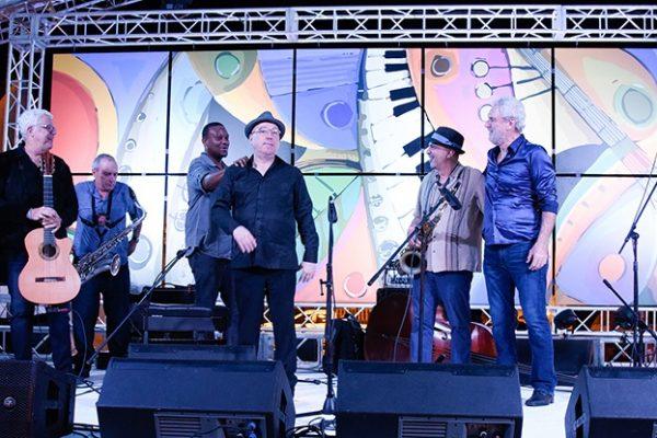 Trio da Paz with Pasqua, Garzone, Jones, Lynch, Pignataro | Dominican Republic Jazz Festival 2017 | Photo Gabriel Rodes